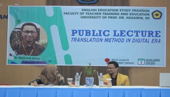 "Public Lecture ""Translation Method In Digital Era"""